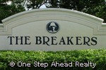 sign for The Breakers