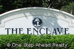 sign for The Enclave