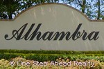 Alhambra community sign